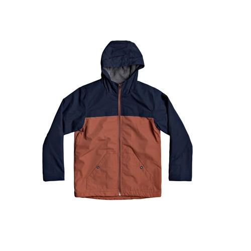 Textil Chlapecké Bundy Quiksilver WAITING PERIOD Tmavě modrá / Hnědá