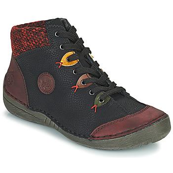 Boty Ženy Kotníkové boty Rieker 52513-36 Černá / Bordó