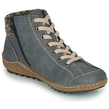 Boty Ženy Kotníkové boty Rieker L7543-14 Modrá