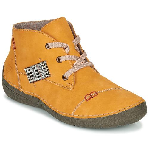 Boty Ženy Kotníkové boty Rieker 52543-69 Žlutá