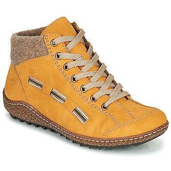 Boty Ženy Kotníkové boty Rieker L7543-69 Žlutá
