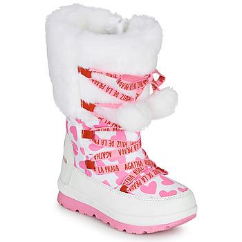 Boty Dívčí Zimní boty Agatha Ruiz de la Prada APRESKI Bílá