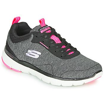 Boty Ženy Fitness / Training Skechers FLEX APPEAL 3.0 Šedá / Černá / Růžová