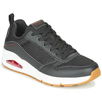 Boty Muži Nízké tenisky Skechers UNO FASTIME Černá