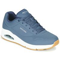 Boty Muži Nízké tenisky Skechers UNO STAND ON AIR Tmavě modrá