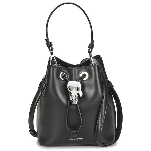 Taška Ženy Tašky přes rameno Karl Lagerfeld K/IKONIK BUCKET BAG Černá