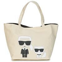 Taška Ženy Velké kabelky / Nákupní tašky Karl Lagerfeld K/IKONIK KARL & CHOUPETTE TOTE Černá