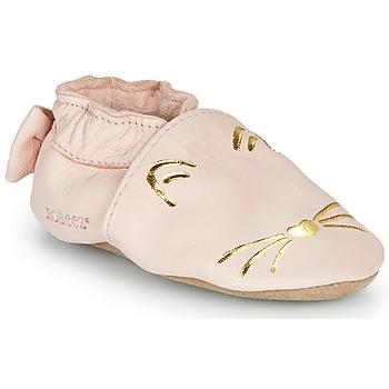 Boty Dívčí Papuče Robeez GOLDY CAT Růžová / Zlatá