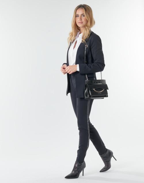 Textil Ženy Kapsáčové kalhoty Karl Lagerfeld PUNTO PANTS W/ LOGO TAPE Tmavě modrá / Černá