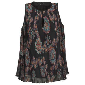 Textil Ženy Tílka / Trička bez rukávů  Desigual MIRA Modrá