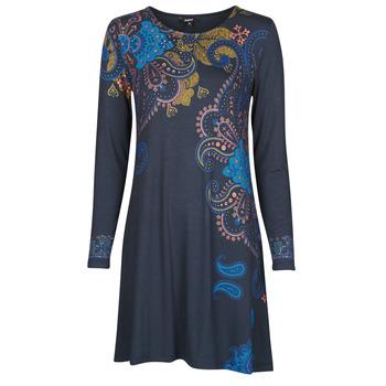 Textil Ženy Krátké šaty Desigual WASHINTONG Modrá