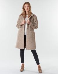 Textil Ženy Kabáty Cream AMELIA COAT Béžová