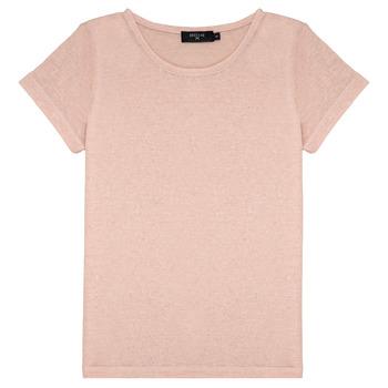 Textil Dívčí Trička s krátkým rukávem Deeluxe GLITTER Růžová