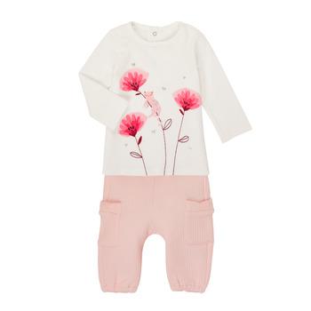 Textil Dívčí Set Catimini CR36001-11 Bílá / Růžová
