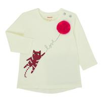 Textil Dívčí Trička s dlouhými rukávy Catimini CR10063-11 Růžová