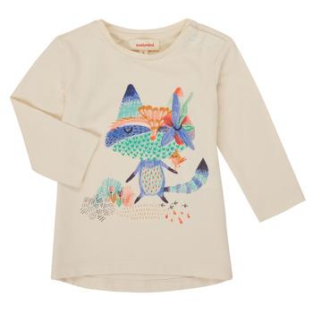 Textil Dívčí Trička s dlouhými rukávy Catimini CR10053-12 Bílá