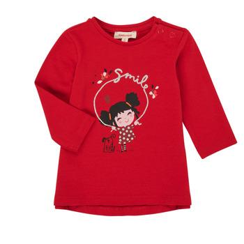 Textil Dívčí Trička s dlouhými rukávy Catimini CR10043-38 Červená