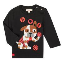 Textil Chlapecké Trička s dlouhými rukávy Catimini CR10022-02 Černá
