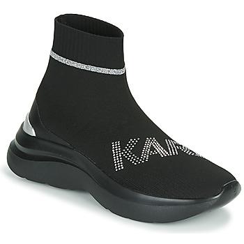 Boty Ženy Kotníkové tenisky Karl Lagerfeld SKYLINE KARL RHINESTONE PULL ON BT Černá