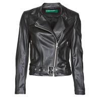 Textil Ženy Kožené bundy / imitace kůže Benetton 2ALB53673 Černá