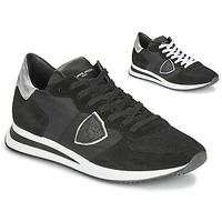 Boty Ženy Nízké tenisky Philippe Model TROPEZ X BASIC Černá / Stříbřitá