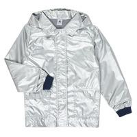 Textil Dívčí Parky Petit Bateau LAETICIA Stříbřitá