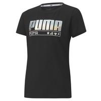 Textil Dívčí Trička s krátkým rukávem Puma ALPHA TEE 165 Černá