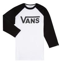 Textil Chlapecké Trička s dlouhými rukávy Vans VANS CLASSIC RAGLAN Černá / Bílá