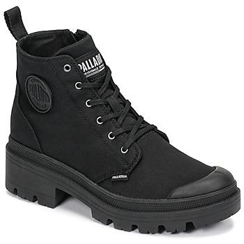 Boty Ženy Kotníkové boty Palladium PALLABASE TWILL Černá