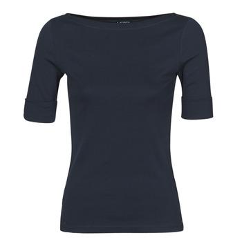 Textil Ženy Trička s dlouhými rukávy Lauren Ralph Lauren JUDY Tmavě modrá