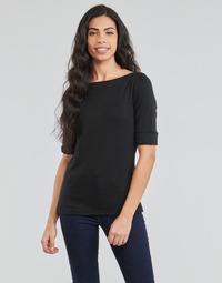 Textil Ženy Trička s dlouhými rukávy Lauren Ralph Lauren JUDY Černá
