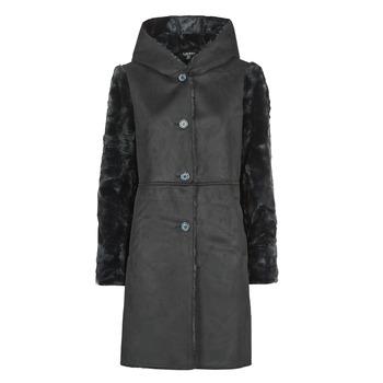 Textil Ženy Kabáty Lauren Ralph Lauren COMBO FX SH-COAT Černá