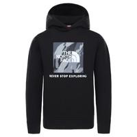 Textil Chlapecké Mikiny The North Face NEW BOX CREW HODDIE Černá