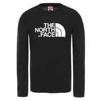 Textil Chlapecké Trička s dlouhými rukávy The North Face EASY TEE LS Černá