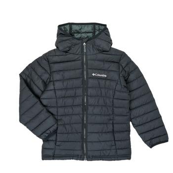 Textil Chlapecké Prošívané bundy Columbia POWDER LITE HOODED JACKET Černá