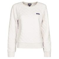 Textil Ženy Mikiny Patagonia W'S ORGANIC COTTON QUILT CREW Krémově bílá