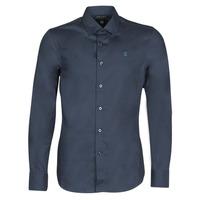 Textil Muži Košile s dlouhymi rukávy G-Star Raw DRESSED SUPER SLIM SHIRT LS Modrá