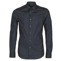 Textil Muži Košile s dlouhymi rukávy G-Star Raw DRESSED SUPER SLIM SHIRT LS Černá