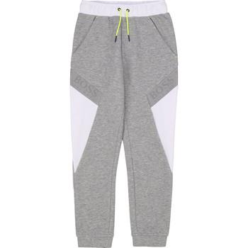 Textil Chlapecké Teplákové kalhoty BOSS J24664 Šedá