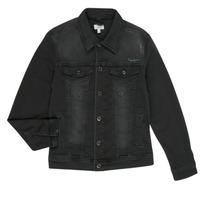 Textil Chlapecké Riflové bundy Pepe jeans LEGENDARY Černá