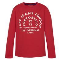 Textil Chlapecké Trička s dlouhými rukávy Pepe jeans ANTONI Červená
