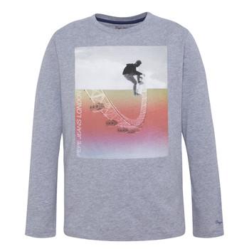 Textil Chlapecké Trička s dlouhými rukávy Pepe jeans EDGAR Šedá