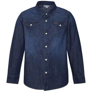Textil Chlapecké Košile s dlouhymi rukávy Pepe jeans JHON Modrá