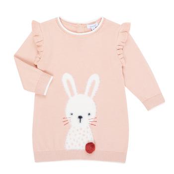 Textil Dívčí Krátké šaty Absorba 9R30092-312-B Růžová