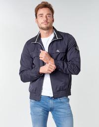 Textil Muži Bundy Calvin Klein Jeans ZIP UP HARRINGTON Tmavě modrá