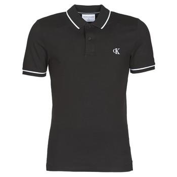 Textil Muži Polo s krátkými rukávy Calvin Klein Jeans TIPPING SLIM POLO Černá