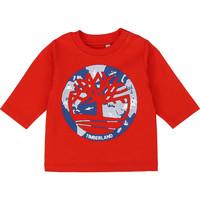 Textil Chlapecké Trička s dlouhými rukávy Timberland T95889 Červená