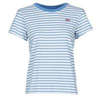 Textil Ženy Trička s krátkým rukávem Levi's PERFECT TEE Modrá