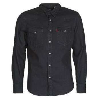 Textil Muži Košile s dlouhymi rukávy Levi's BARSTOW WESTERN STANDARD Černá