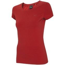 Textil Ženy Trička s krátkým rukávem 4F NOSH4 TSD001 Červené